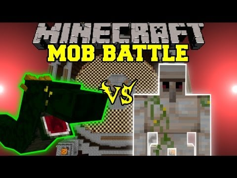 Basilisk Vs. Iron Golem - Minecraft Mob Battles - Arena Battle - Orespawn Mod video