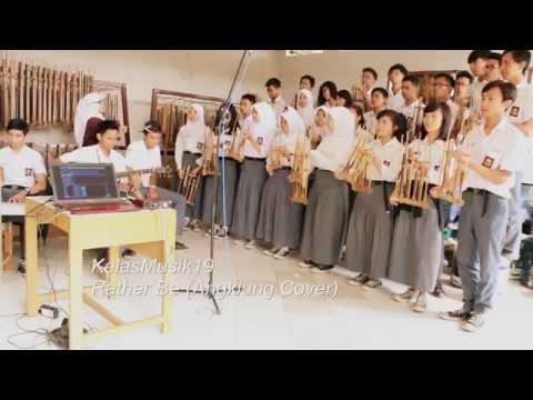 download lagu Rather Be - Clean Bandit Ft. Jess Glynne Angklung Cover - KelasMusik19 gratis
