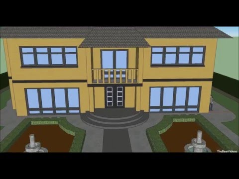 Make a house with Google Sketchup 8