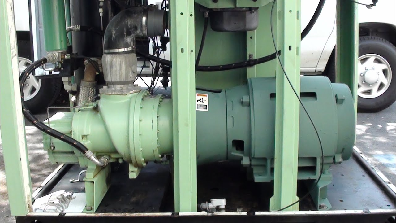 How A Oil Flooded Rotary Screw Air Compressor Works Youtube