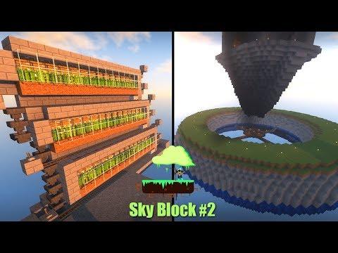 SkyBlock сезон 2 #2: Гигантская Ферма Мобов и Автоматическая Ферма Тростника!