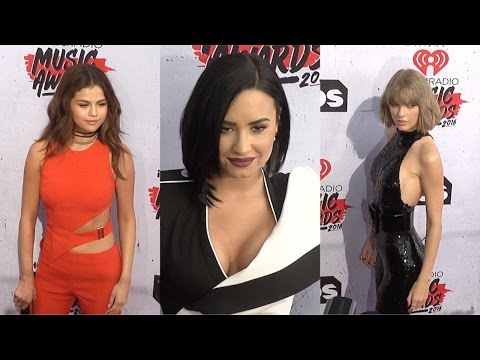 Selena Gomez, Demi Lovato, Taylor Swift #iHeartRadioMusicAwards Red Carpet thumbnail