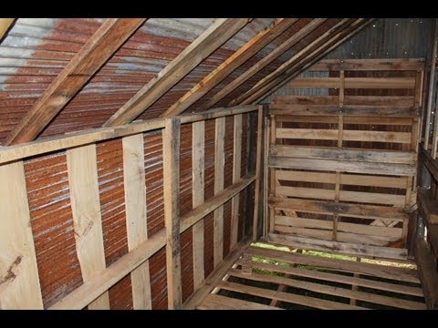 How to Build Free or Cheap Shed from Pallets DIY Garage Storage Pt 5 ...