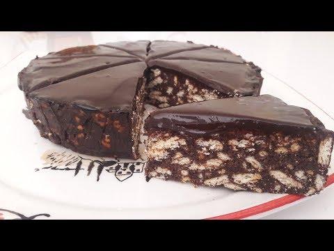 4 Malzemeli Çok Kolay Pişmeyen Çikolatalı Pasta - Mozaik Pasta Tarifi - Mosaic Pastry Recipe
