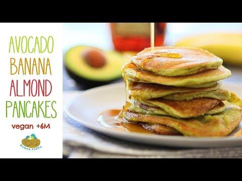 Banana Avocado Almond Pancakes - Vegan Baby Recipe +6M