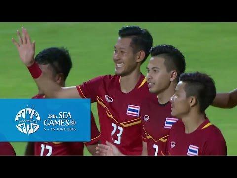 Football Laos vs Thailand Full Match Highlights 29 May | 28th SEA Games Singapore 2015