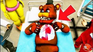 WITHERED FREDDY GETS SURGERY! (GTA 5 Mods FNAF Kids RedHatter)