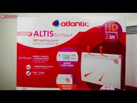 Обзор конвекторов Atlantic (Атлантик) Altis Ecoboost. CHG-3 PACK2 DAP на 1000 , 1500 и 2000 Ватт