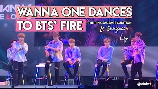 [WANNA BE LOVED IN MANILA] WANNA ONE DANCES TO BTS' FIRE - THE PINK SAUSAGE AUDITION