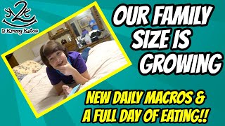 We're expecting..,  | Keto full day of eating | New macros for the week
