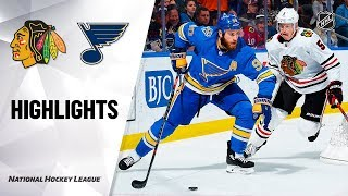 NHL Highlights | Blues @ Blackhawks 12/14/19