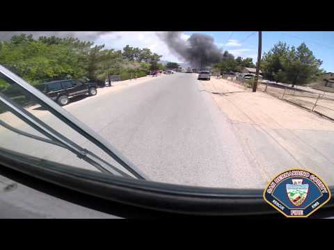 Helmet cam and radio traffic: House fire in Calif.