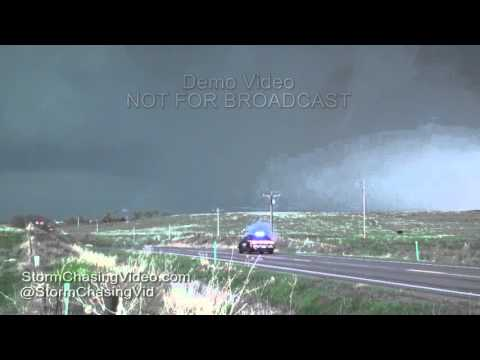 Extreme Tornadoes from Wray, CO along with damage and timelapse - 5/7/ 2016