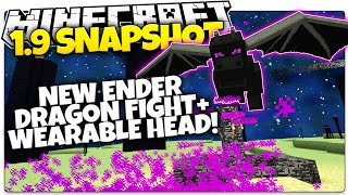 Minecraft 1.9 Snapshot | NEW ENDER DRAGON BOSS FIGHT | Wearable Dragon Head (Minecraft 1.9 News)