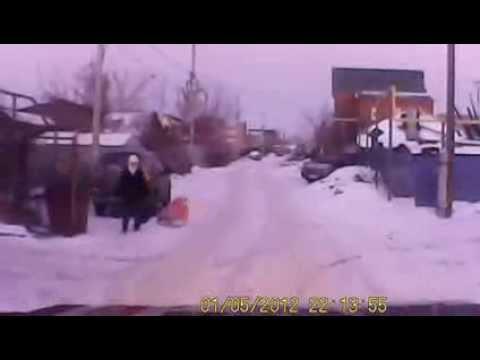 Неадекват на Камазе 27.12.2013 г.Челябинск