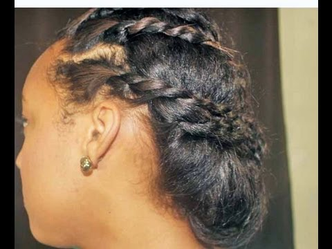Cute Protective Hairstyle for Transitioning Hair - YouTube