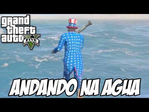 GTA V - ANDANDO NA ÁGUA GLITCH HUE