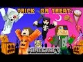 MINECRAFT HALLOWEEN TRICK OR TREAT Candy Run Challenge!?!
