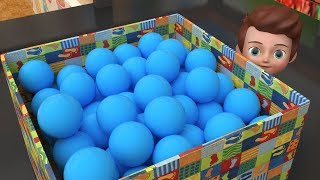 Learn Colors With Pit Balls Surprise InDoor Animals Toys - Videos For Kids