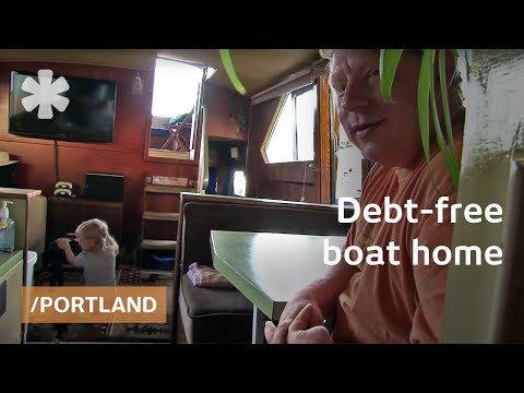 Debt Free Boat Tiny Home For Family Of 3 On Portland Island