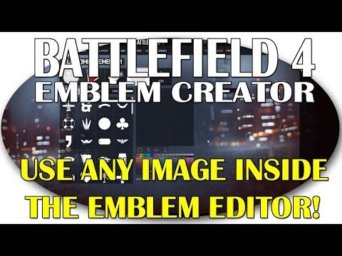 How To Use Any Image Inside The Battlefield 4 Emblem Editor! video