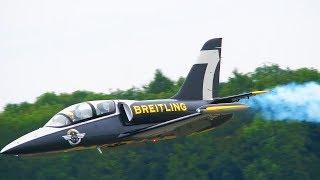XXXL L-39 ALBATROS 49,5KG BREITLING RC SCALE MODEL TURBINE JET   MODELLTAGE THÜRINGEN 2018