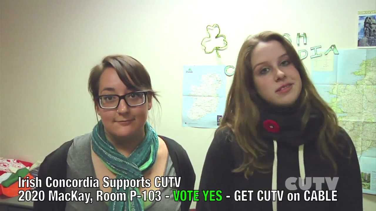 Concordia Clubs Support CUTV Fee Levi Campain - VOTE YES for CUTV - GET CUTV on CABLE
