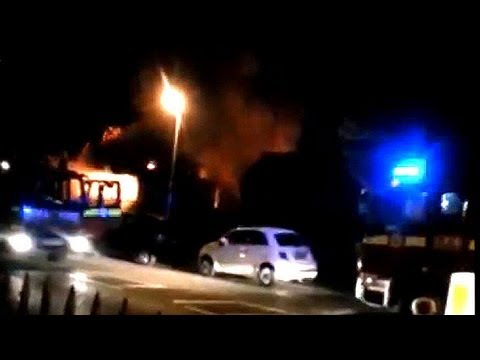 Amateur video shows London mosque in flames