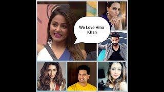 21 Celebrities Who Support Hina Khan   Hina Khan   Big Boss 11