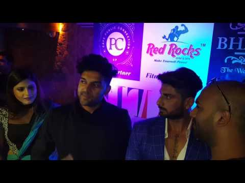 Farhan yahiya interviewing Singer Guru Randhawa at the Launch of health, life style magazine FitLook
