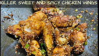 KILLER SWEET AND SPICY CHICKEN WINGS FOR KETO AND LOW CARB DIET
