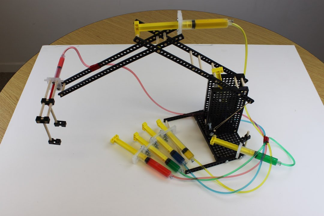 Hydraulic Arm T Bot : Teachergeek advanced hydraulic arm build youtube