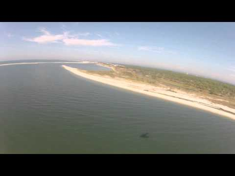 Flying Dauphin Island Shoreline