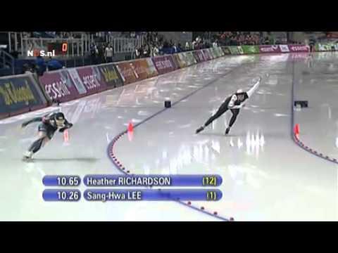WR 500 meter vrouwen Lee Sang-hwa (36,80)