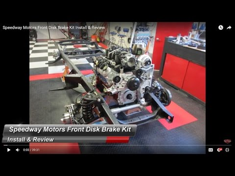Speedway Motors Front Disk Brake Kit Install & Review