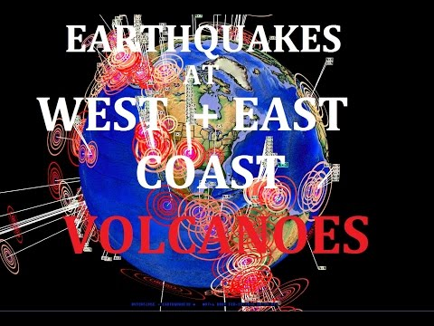 2/23/2016 -- West Coast + EAST Coast Volcanoes hit by Earthquakes - New Unrest Brewing