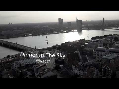 SKF pasâkums Dinner In The Sky / Rîga 2017