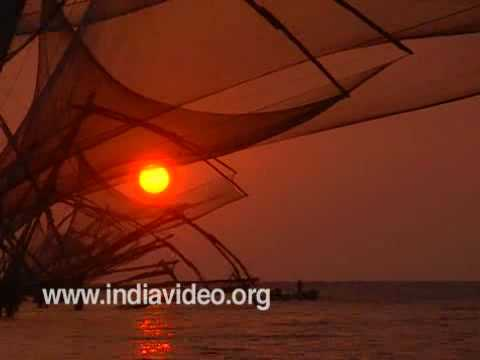 Chinese Fishing Nets- a scene from Kochi