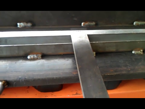 Homemade  Press Brake for Harbor Freight 20 Ton Shop Press