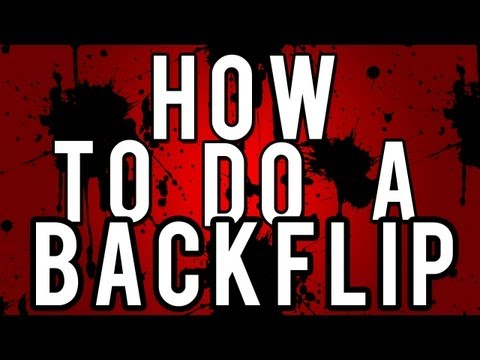 How To Do Backflips On The Ground (EASY)