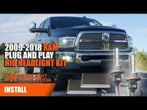 2009-2018 Dodge Ram Easy Plug and Play HID Projector Headlight Install - Smart PWM By GTR Lighting