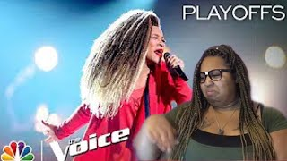 The Voice Playoffs | SandyRedd Amazing Performance| Reaction