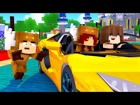 Minecraft Daycare - BABY STEALS CAR! w/ MooseCraft (Minecraft Kids Roleplay)