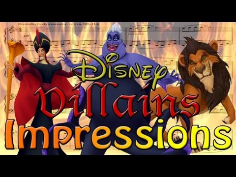 Disney Villains Impressions... in Song!