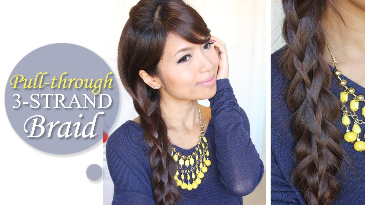 Intricate Pull Through Braid Hairstyle Long Hair