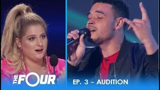 Download Lagu Ebon Lurks: Moving Audition Gets Meghan Trainor EMOTIONAL! | S2E3 | The Four Gratis STAFABAND