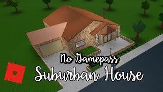 Welcome to Bloxburg: No Gamepass Suburban House | Speed Build
