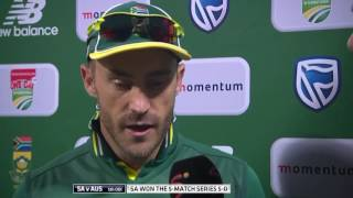 "Du Plessis, ""Tonight we had all the answers."""