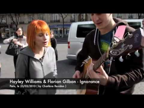 Hayley Williams singing Ignorance with Florian Gilbon