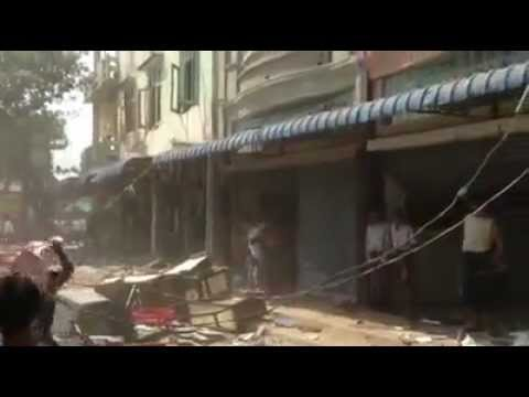 Burma Meitthilar Muslim Gold shop Destroyed By 969 Buddhist Extremists Group